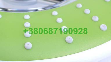 Велика кругла лійка для душу зелена. Тропічний душ. Тропічна лійка., фото 3