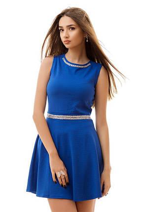 """Приталенное летнее мини-платье """"Maggie"""" cо стразами (2 цвета), фото 2"""