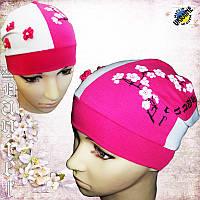 Трикотажные шапки для девочек оптом