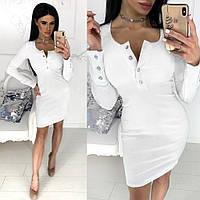 Платье женское приталенное (5 цветов) - Белый АА/-1196, фото 1