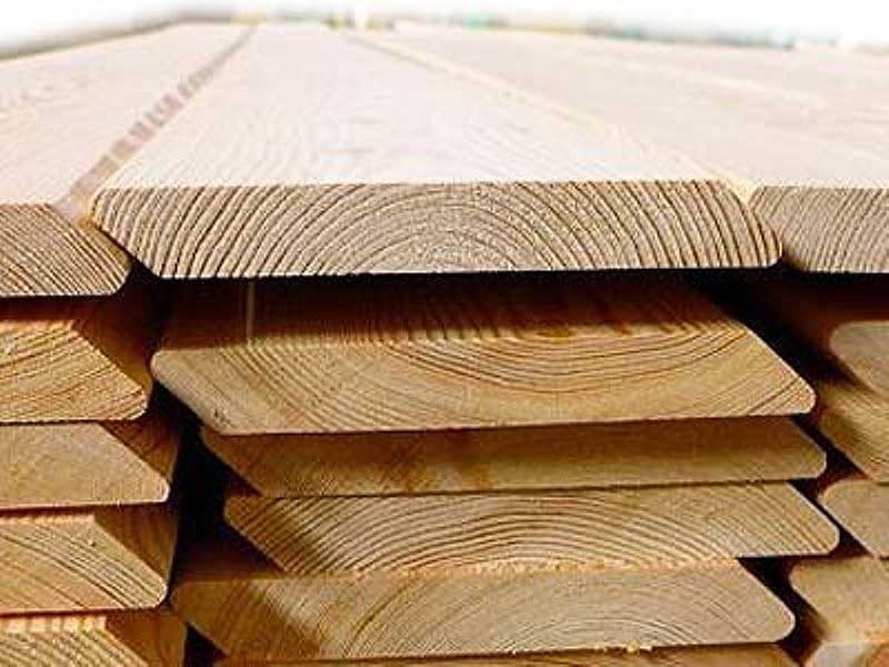 Планкен скошений Модрина, ромбус дерев'яний планкен 20х140х4000