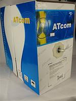 Кабель витая пара UTP 4x2x0,50mm биметалл AtCom КВП Cat. 5e 305м (бухта) для внутренней прокладки