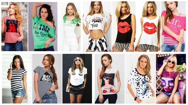 Стильные женские футболки и майки
