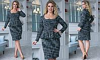 Женский стильный костюм  СОР2136 (бат), фото 1