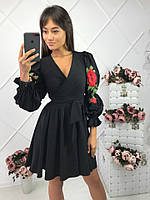 Чёрное короткое платье