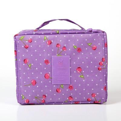 Органайзер дорожный универсальный Genner Multy Pouch Ver.2  фиолетовый с вишенками 01021/06