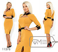 Платье женское приталенного кроя (3 цвета) - Горчица SD/-8629, фото 1