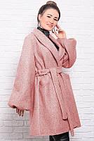 Розовое женское  пальто Майа на подкладке