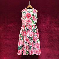 Платье женское D&G яркое с цветочным летним принтом