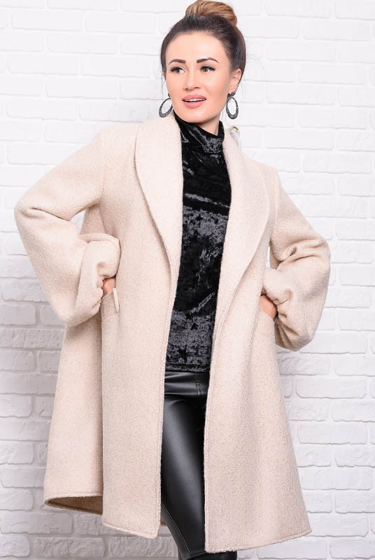 Модне жіноче пальто Майа, бежеве