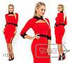 Платье женское приталенного кроя (3 цвета) - Красный SD/-8629