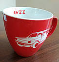 Оригинальная фарфоровая кружка Volkswagen GTI Mug, Red/White (5KA069601A), фото 4
