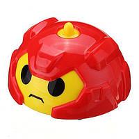 Машинки игрушки, гирокар, Gyro Car, в пластиковом яйце - красный корпус