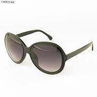 Молодежные солнцезащитные очки - Черные с черной линзой - 1-408, фото 1