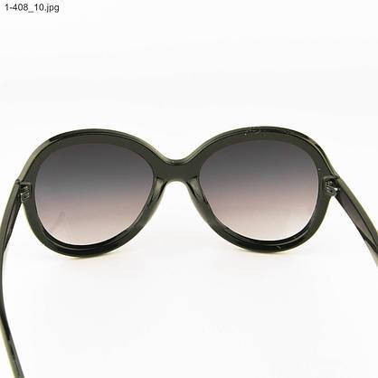 Молодежные солнцезащитные очки - Черные с черной линзой - 1-408, фото 3