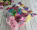 Резинки для волос фатиновые шарики с ушками и глазками 12 шт/уп., фото 3