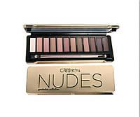 Тени для век Beauty Creations Nudes Eyeshadow Palette (12 оттенков)