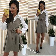 Стильное деловое женское платье, фото 1