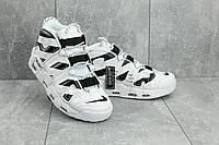 Мужские кроссовки искусственная кожа весна/осень белые-черные Ditof A 8587 -7