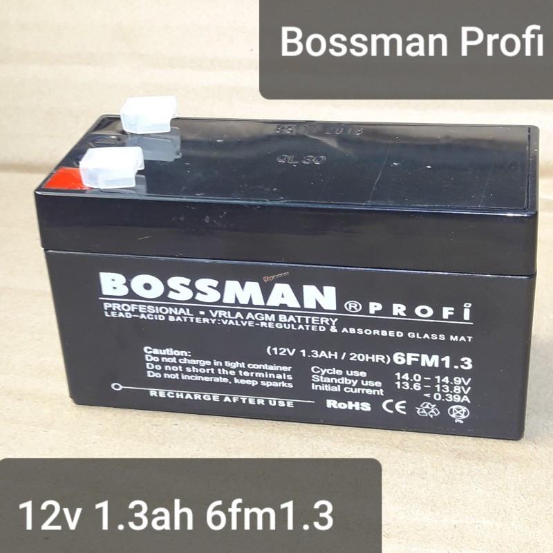 Свинцовый аккумулятор Bossman profi 12V 1.3Ah 6FM1.3 97х51х43мм