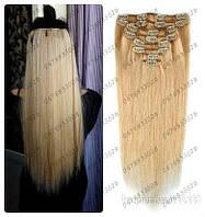 Волосы трессы ТЕРМо на заколках набор из 7 прядей 60см  №27\613 карамельно-пшеничный блонд