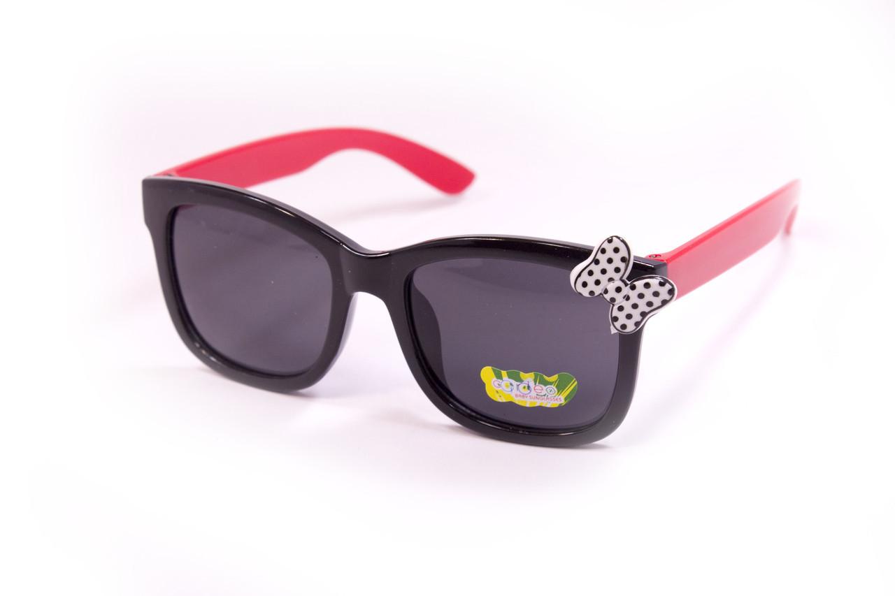 Детские очки с бантиком черные 928-1