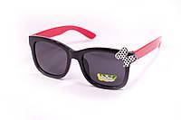 Детские очки с бантиком черные 928-1, фото 1