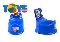 Горшок детский со спинкой, синий, ПХ4518 СИН