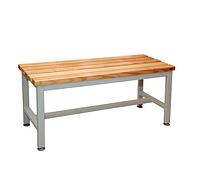 С-1000 скамейка-лавочка металлическая в раздевалку приставная 1000х375хH455 мм