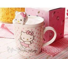 Чашка с крышкой фигурка Hello Kitty (4 вида)
