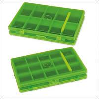 Магнитная коробка CarpZoom для крючков, двусторонняя, 25 секций Magnetic Box, 12x8x1,6cm