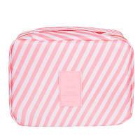 Дорожный органайзер для макияжа Genner  розовый в полоску 01029/06, фото 1
