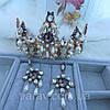 Корона и серьги набор ЭРИКА диадема высокая корона Dolce Gabbana тиары, фото 5
