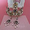 Корона и серьги набор ЭРИКА диадема высокая корона Dolce Gabbana тиары, фото 9
