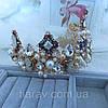 Корона и серьги набор ЭРИКА диадема высокая корона Dolce Gabbana тиары, фото 6