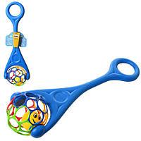 Каталка детская с ручкой Шар 3503: шар с погремушкой: 2 цвета