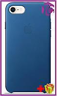 Чехол Apple iPhone 7 Leather Case (OEM) - Blue