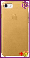 Чехол Apple iPhone 7 Leather Case (OEM) - Gold