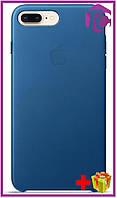 Чехол Apple iPhone 7 Plus Leather Case (OEM) - Blue