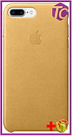 Чехол Apple iPhone 7 Plus Leather Case (OEM) - Gold