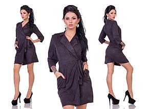"Замшевое мини-платье на запах ""Anabelle"" с четвертным рукавом (2 цвета), фото 3"