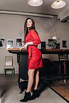 "Замшевое мини-платье на запах ""Anabelle"" с четвертным рукавом (2 цвета), фото 2"