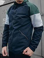 Ветровка мужская Staff color block green and navy