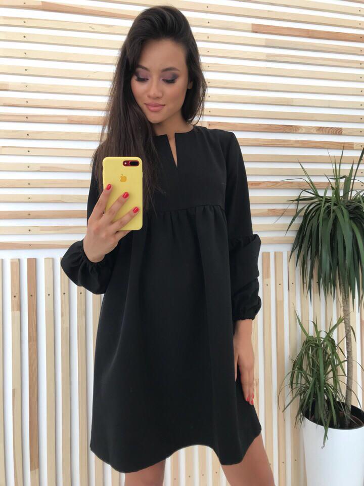 Женское короткое весеннее платье