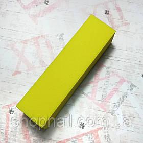 Баф для ногтей 4-х сторонний, желтый