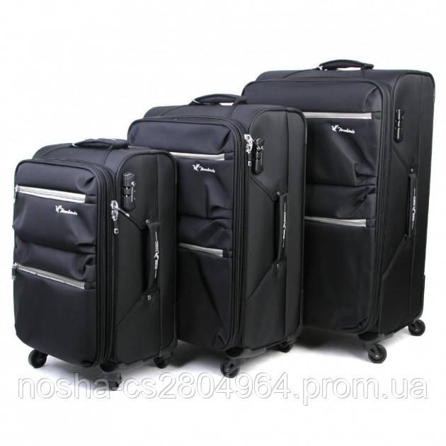 6fc6fe86dbe3 Набор чемоданов THREE BIRDS / чемодан на колесах черный: продажа ...