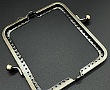 Замок-рамка фермуар вшивной бронза 110х50 мм, фото 2
