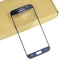 Стекло (для ремонта дисплея) Samsung G930F Galaxy S7, синее