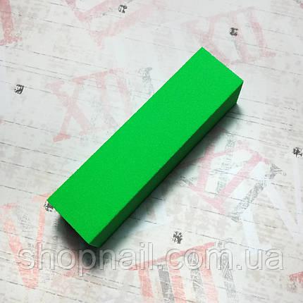 Баф для ногтей 4-х сторонний, салатовый, фото 2