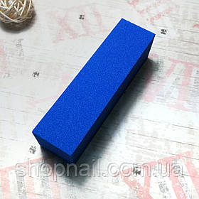 Баф для ногтей 4-х сторонний, голубой